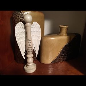 """🙏🏻Wooden Angel """"Candlestick """" 12 Inches"""